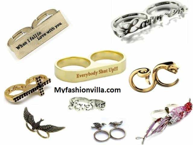 Two Finger Rings for Girls Myfashionvilla