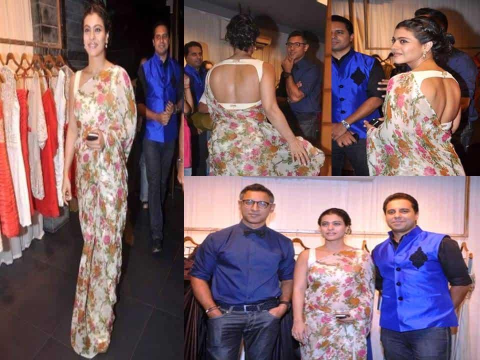 Kajol is Looking Heavenly Beautiful at Shantanu & Nikhil Store Launch