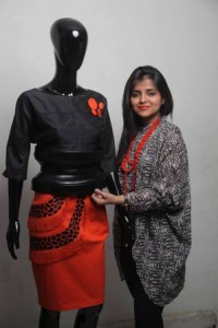 Kanika Jain with her creations under brand Kanelle