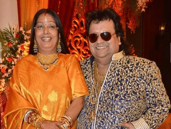 bappi Lahiri & his wife