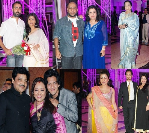 celebrities in sunidhi chuahan's wedding