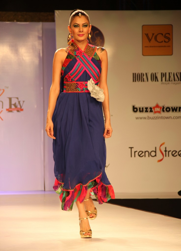 Model Wearing Poonam Patel