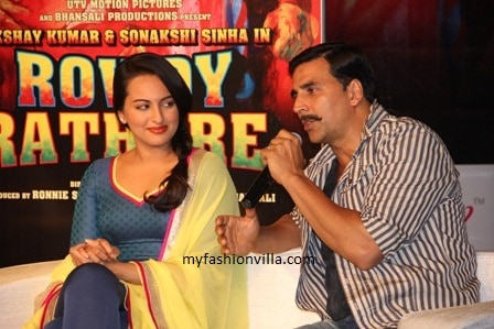 Akshay Kumar & Sonakshi Sinha for Rowdy Rathore Promotions