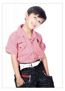 kid print ad modeling