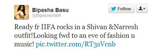 Bipasha Basu Tweeted about IIFA