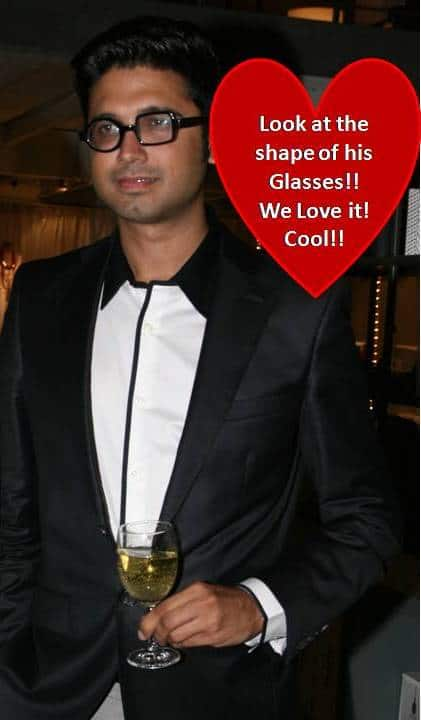 Designer Narresh with his unique glasses
