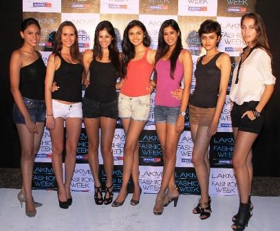new lakme model faces - Jyotpriya, Petra, Jami, Shweta, Parul, Natasha, Stella