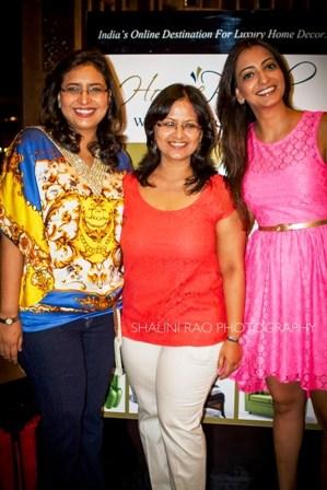 L-R Sanvari Alagh Nair, Sharanya Rao, Anjori Alagh