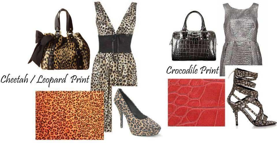 Leopard print and crocodile print