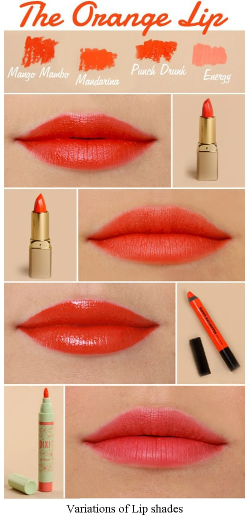 orange color on Lips