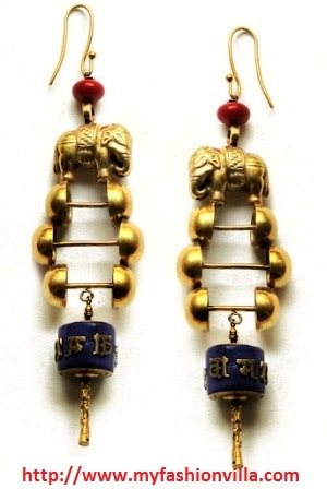 Climbing up the Monastry earrings
