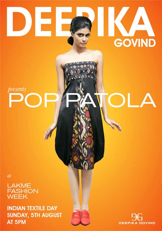 Deepika Govind to Present Pop Patola at Lake Fashion Week Winter Festive 2012 2013
