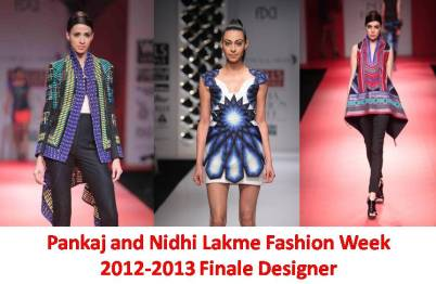 Pankaj and Nidhi Lakme Fashion Week 2012 2013 Finale Designers