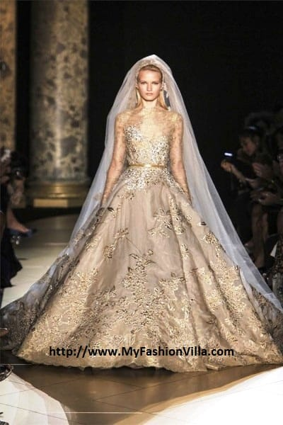 Bride at Elie Saab Show Fall Winter 2012 - 2013