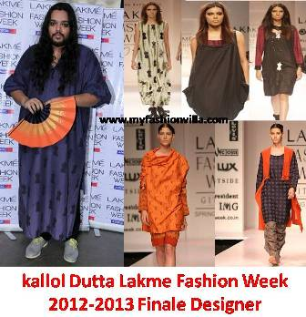 lakme fashion week winter festive 2012 2013 finale designer kallol dutta