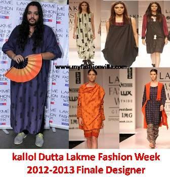 lakme fashion week winter festive 2012 2013 finale designer kallol dutta