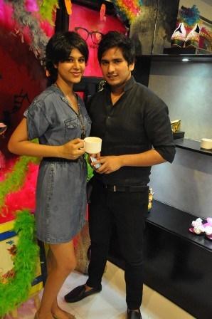 Model Divya with Shekhar Sharma