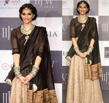 Sonam-Kapoor-in-Anamika-Khanna-at-IIJW-2012