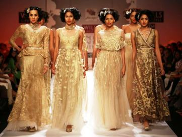 Swati Modo Designed Shoes for Geisha Designs by Paras & Shalini at WIFW Day 1