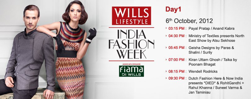 Wills Lifestyle India Fashion Week Spring Summer 2013 Schedule Day 1