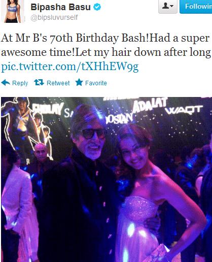 bipasha basu at Amitabh Bachchan birthday