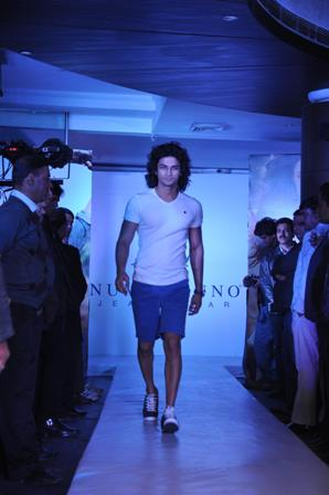 Model walking at the Fashion Show: Numero Uno Spring Summer Collection 2013