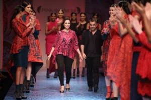 Pankaj and Nidhi collection at WIFW 2013