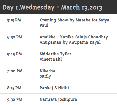 Day 1 Schedule Willslifestyleindiafashionweek