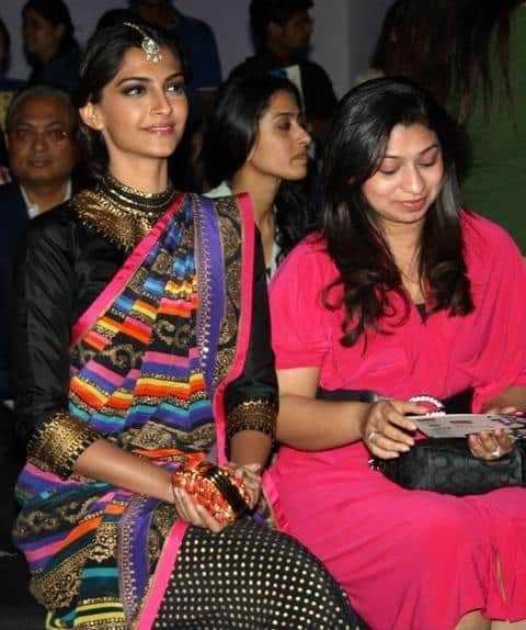Sonam Kapoor Attended Manish Arora Show At WIFW 2013