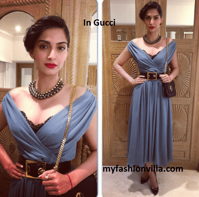 Get This Look: Sonam Kapoor in Gucci for a launch Event
