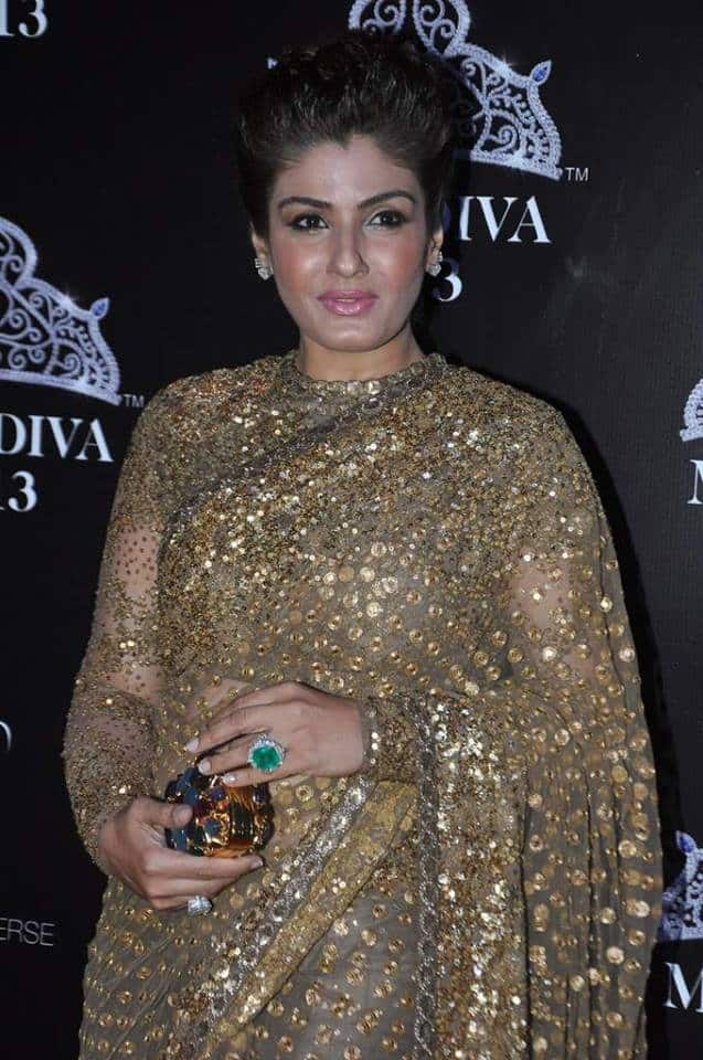 Raveena Tondon in Sabyasachi but What's Wrong with Her Makeup?