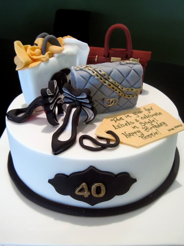fashion girl b'day cake