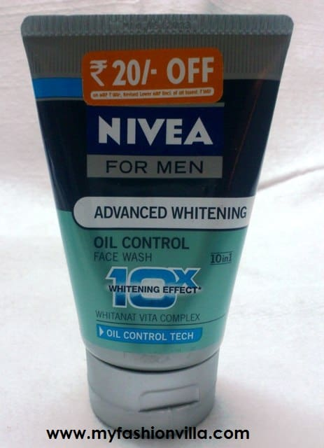 Nivea For Men Advanced Whitening Oil Control Face Wash