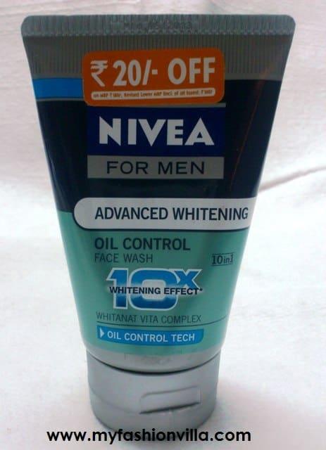 Nivea For Men Advanced Whitening Oil Control Face Wash