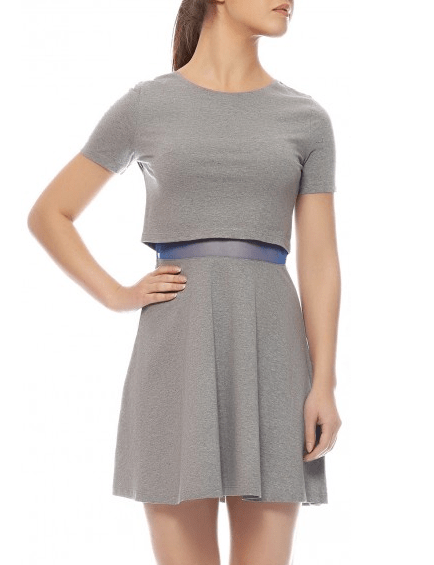 Layered knit dress sbuys