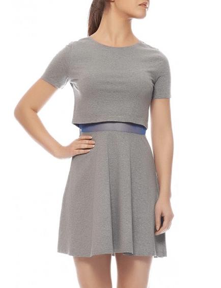 Layered knit dress sbuys