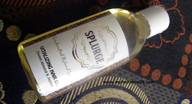 SPLURGE Hair Oil Review