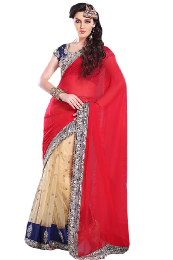 latest fashion bridal saree