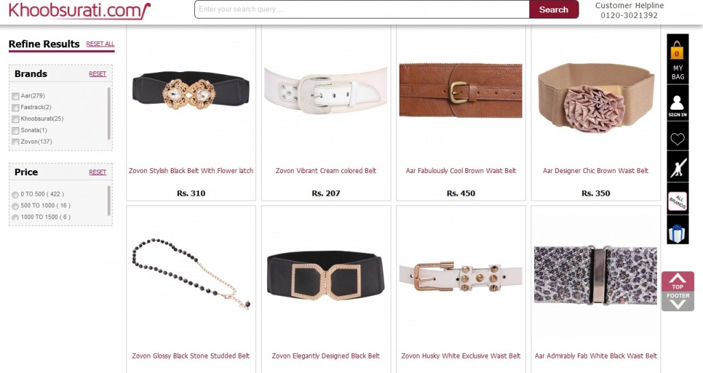 belts for girls