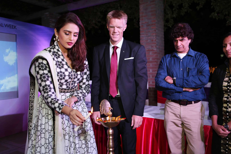 Ms. Huma Qureshi and Mr. Niklas Frisk, Oriflame India
