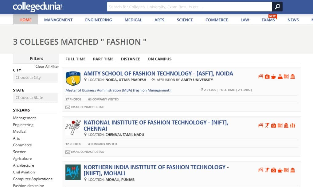 fashion institutes in India