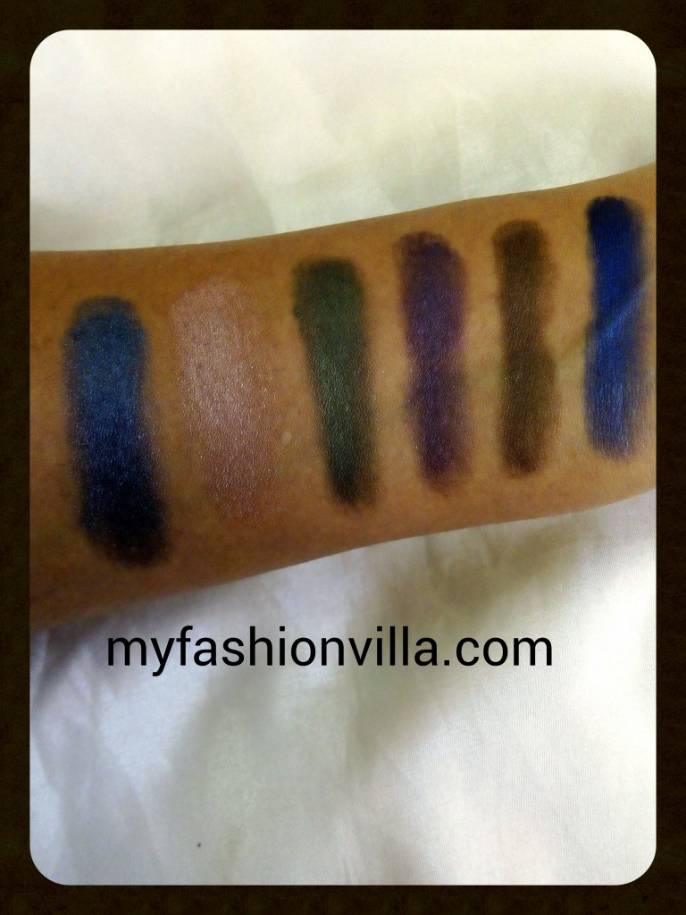 Oriflame The One Eye Shadow Swatches