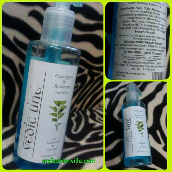 Vedic Line Eucalyptus & Rosemary Face Wash Review