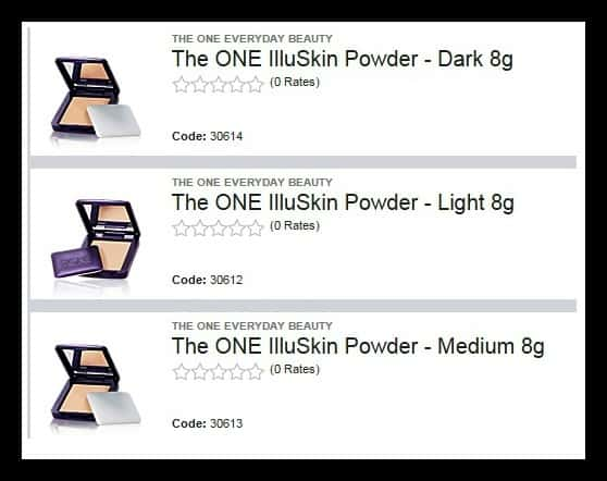 Oriflame TheOne Illuskin Powder