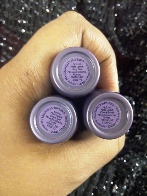 Oriflame Brown Lipsticks