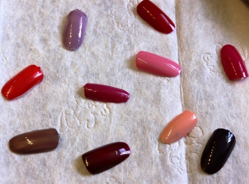 Oriflame The One Long Wear Nail Polish Swatches