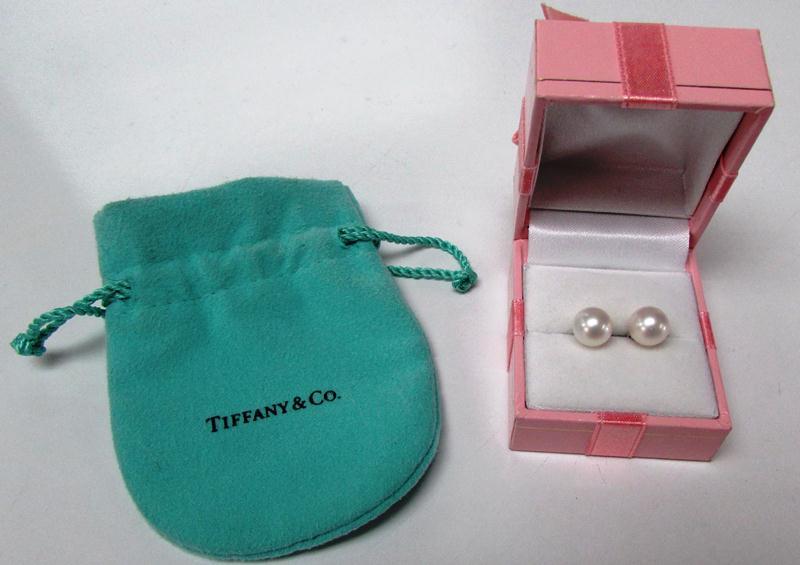 Tiffany&co pearl studs