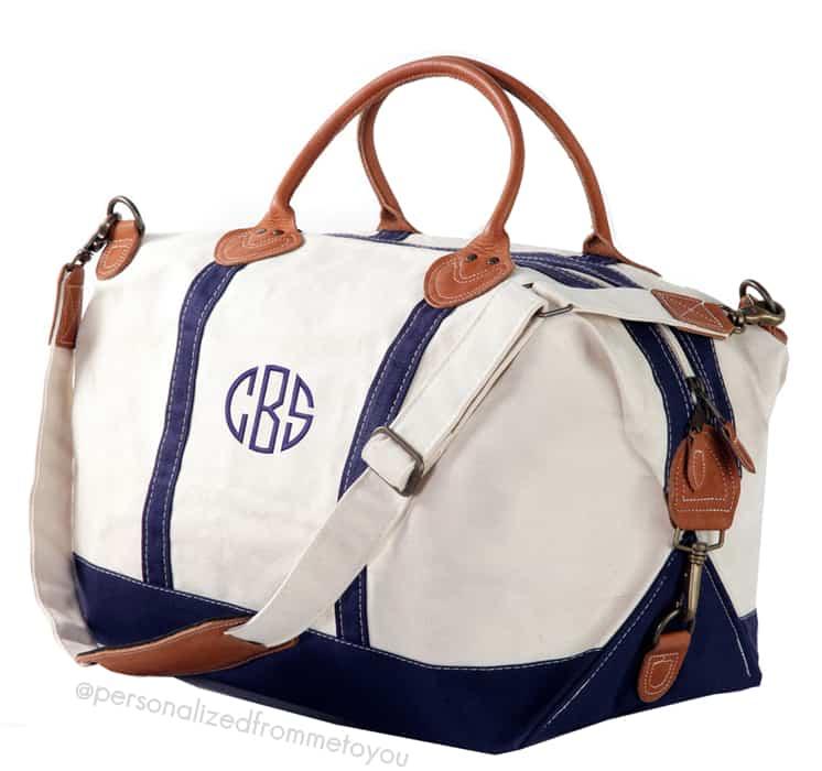 monogrammed-navy-weekender-duffel-bag