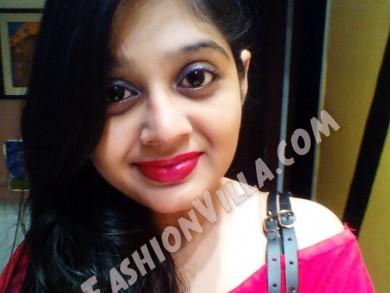 Wearing Red Matte Lipstick