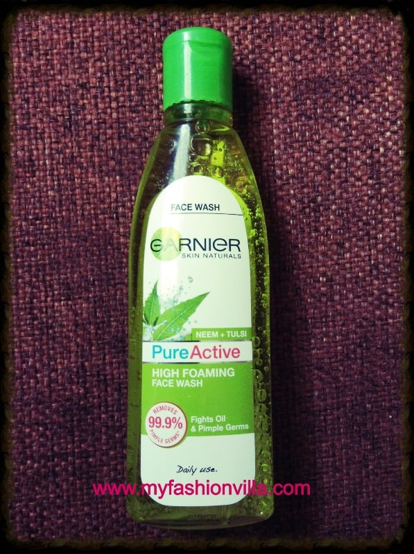 Garnier Pure Active Neem + Tulsi High Foaming Face Wash Review